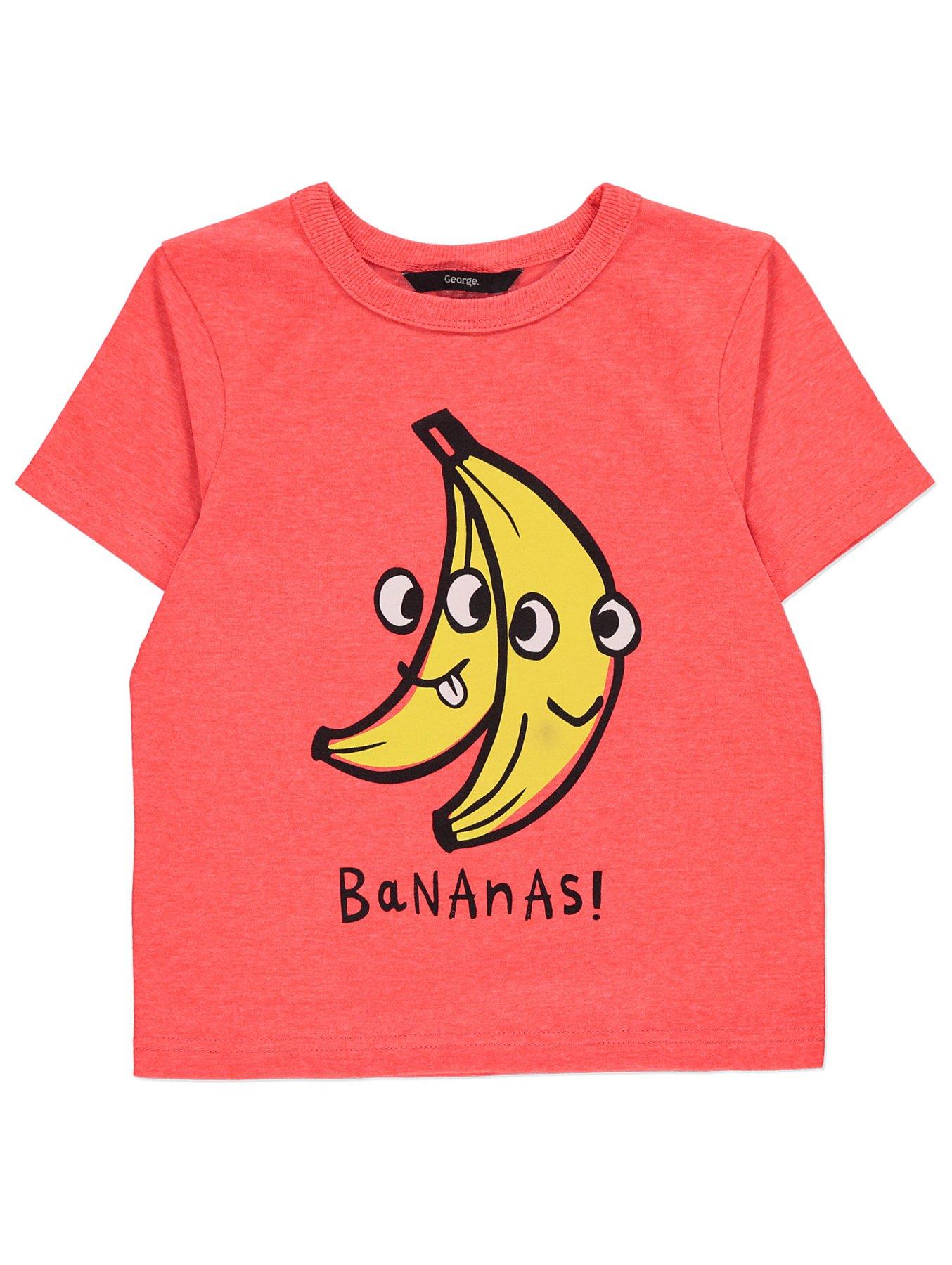 189f5ab83 Orange Banana Print Short Sleeve T-Shirt | Kids | George