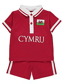 5f78e3d0b Red Wales Polo Top and Shorts Outfit