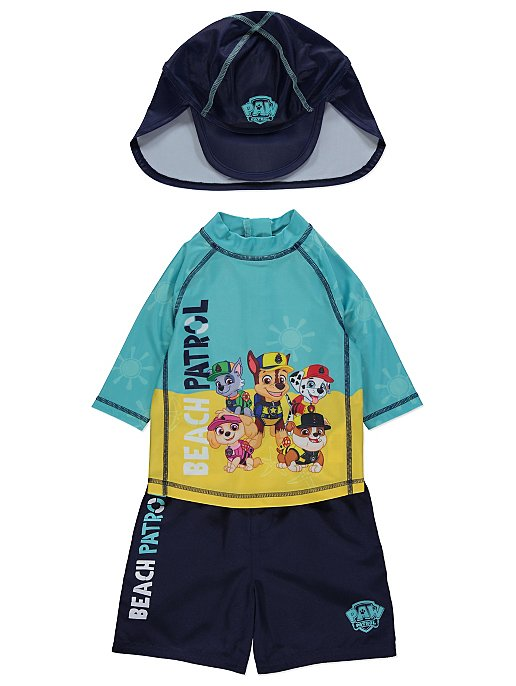 9eab934fa3 Paw Patrol Beach Patrol Sun Protection UV40 Swim and Hat Set | Kids | George