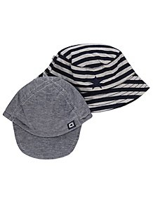 b68e7e7d5de Navy and Stripe Assorted Hats 2 Pack