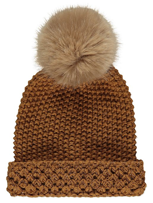 Tan Knitted Bobble Hat. Reset 1e8c21185a2