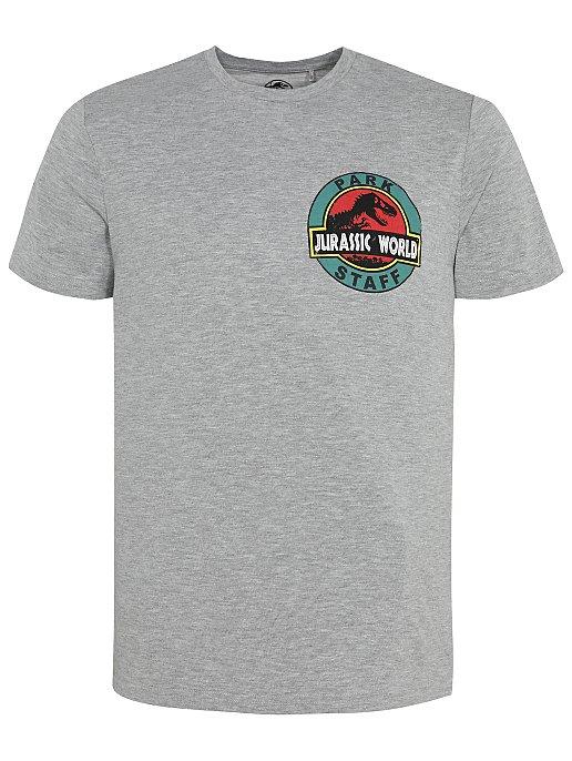 Grey Jurassic Park T Shirt Men George