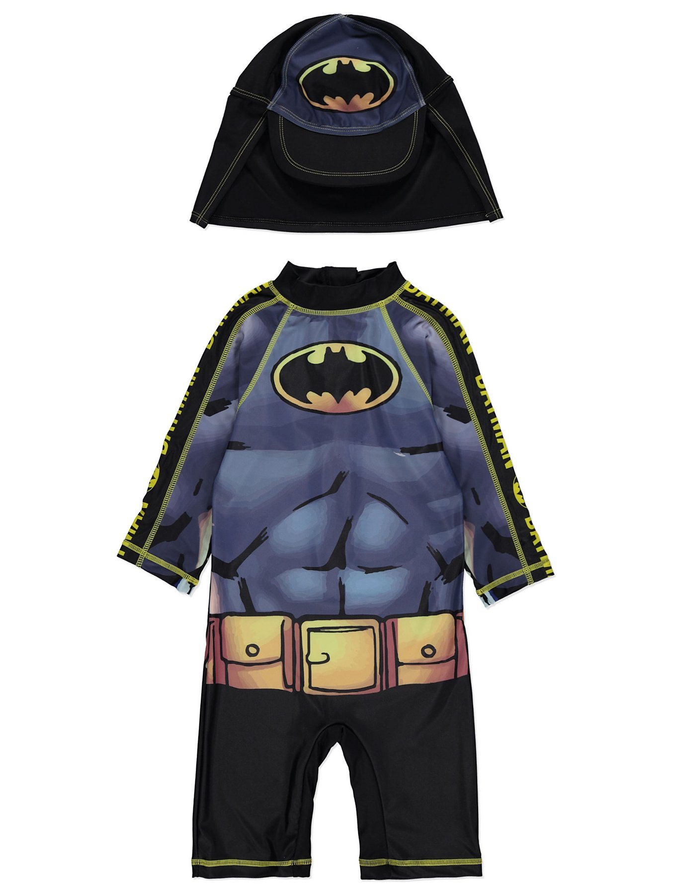 8127eddeea DC Comics Batman Sun Protection UV40 Swimsuit and Hat Set. Reset