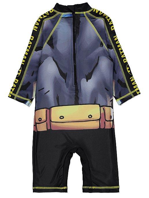 3f821d40d5 DC Comics Batman Sun Protection UV40 Swimsuit and Hat Set