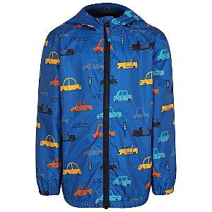 Blue Car Print Shower Resistant Jacket