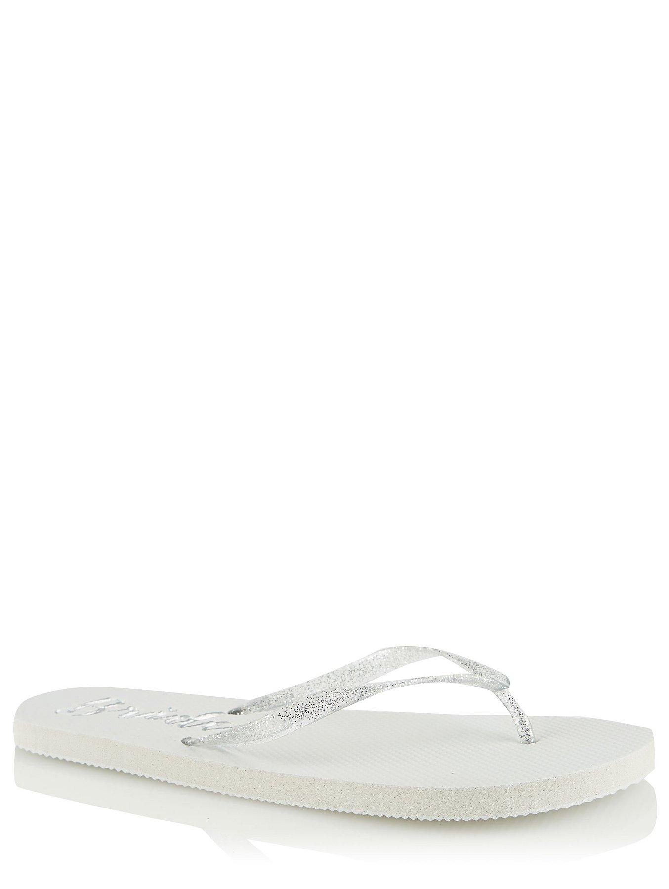 95dd67501dc10 White Bride Flip Flops