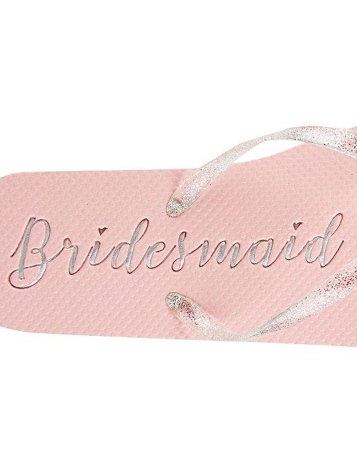 8632c562c Bridesmaid Glittered Flip Flops