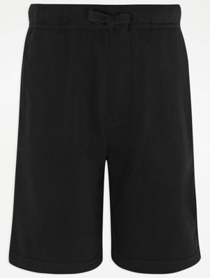 Boys Black School Sweat Shorts