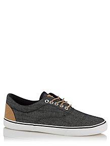 61e200bc8fe0 Navy Marl Canvas Oxford Trainers