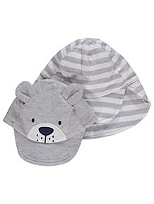 604392d7dec Grey Assorted Sun Hats 2 Pack