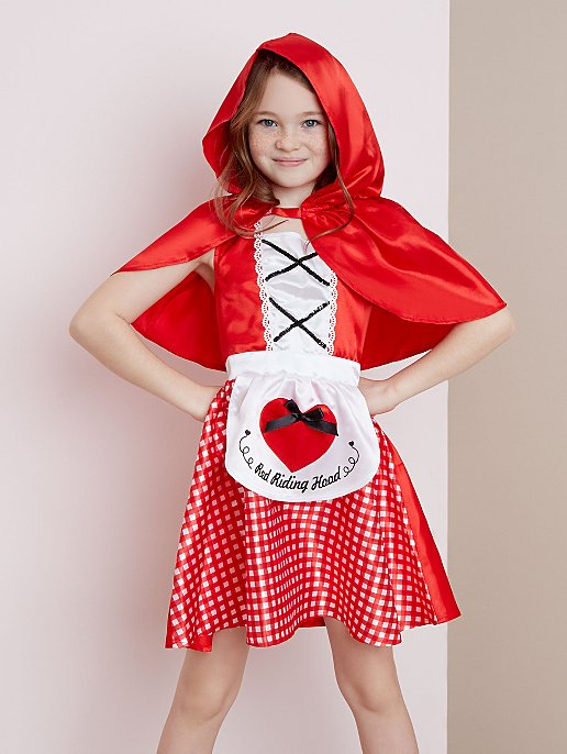 George Little Red Riding Hood Girls Fancy Dress Costume Outfit World Book Day