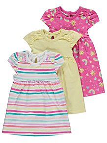 99f49cda74f4 Rainbow Jersey Dresses 3 Pack
