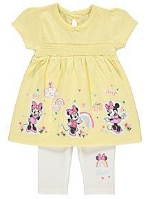 fa9702920c9 Disney Minnie Mouse T-Shirt and Leggings Outfit. £6