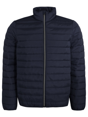 Navy Packable Padded Jacket