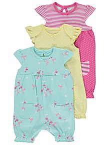 One-pieces George Baby Girl Rompers And Hat Age 0-3 Months Beautiful In Colour