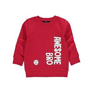 Red Awesome Bro Slogan Sweatshirt