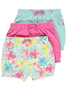 Baby Girls 6-9 Months Top X 3 And Shorts X 1