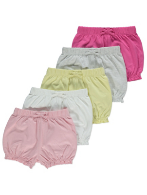 Pink Assorted Ruffled Hem Shorts 5 Pack
