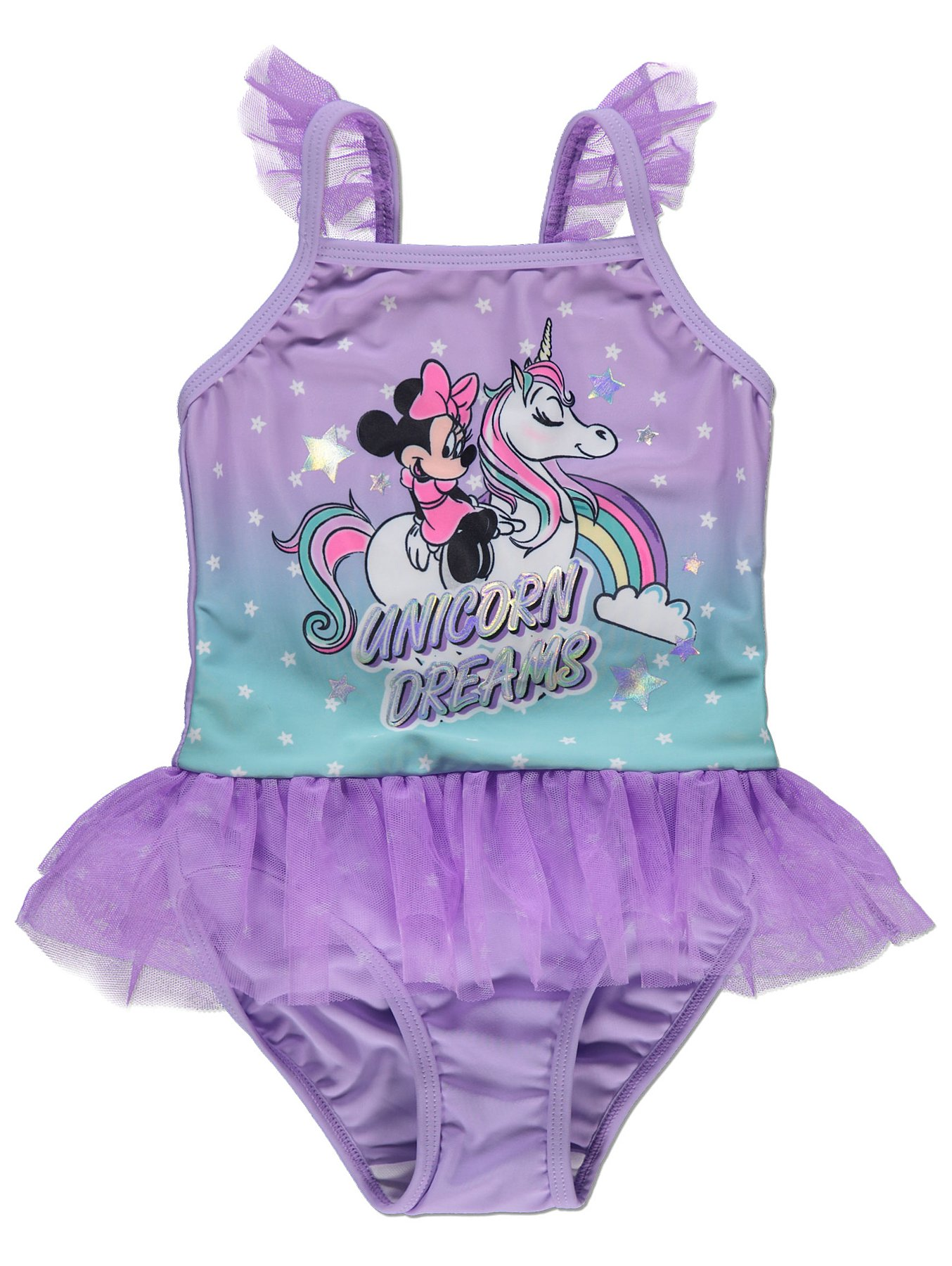 f145b4129e5bf Disney Minnie Mouse Unicorn Dreams Tutu Swimsuit | Kids | George
