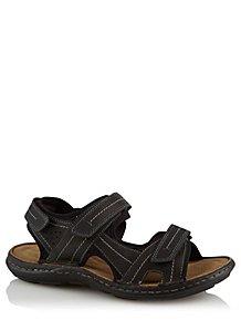 ec006871567 Black 2 Strap Sandals