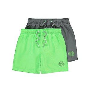 Green Swim Short 2 Pack