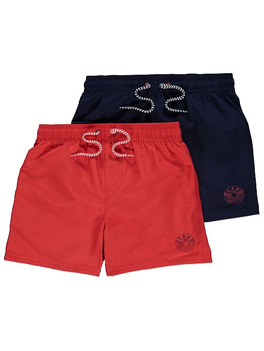 b32b3e8d27 Assorted San Francisco Slogan Swim Shorts 2 Pack | Kids | George