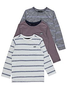 Long Sleeve Striped Tops 3 Pack a61311523