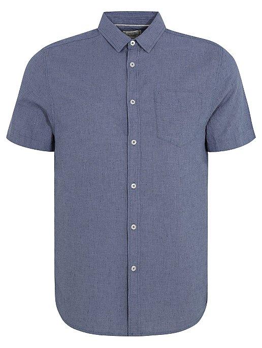 c60694c1aaa Blue Short Sleeve Linen Blend Shirt | Men | George