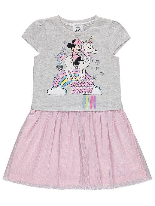 dcd08d6fc1bb Grey Minnie Mouse Unicorn Dress