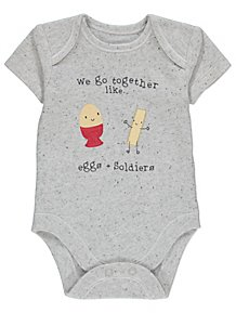 49932f910440 Grey Egg and Soldiers Bodysuit