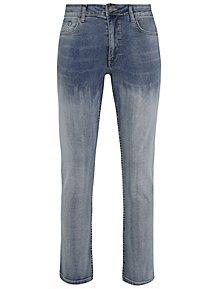 Blue Stone Wash Denim Straight Leg Stretch Jeans a6b05232b0