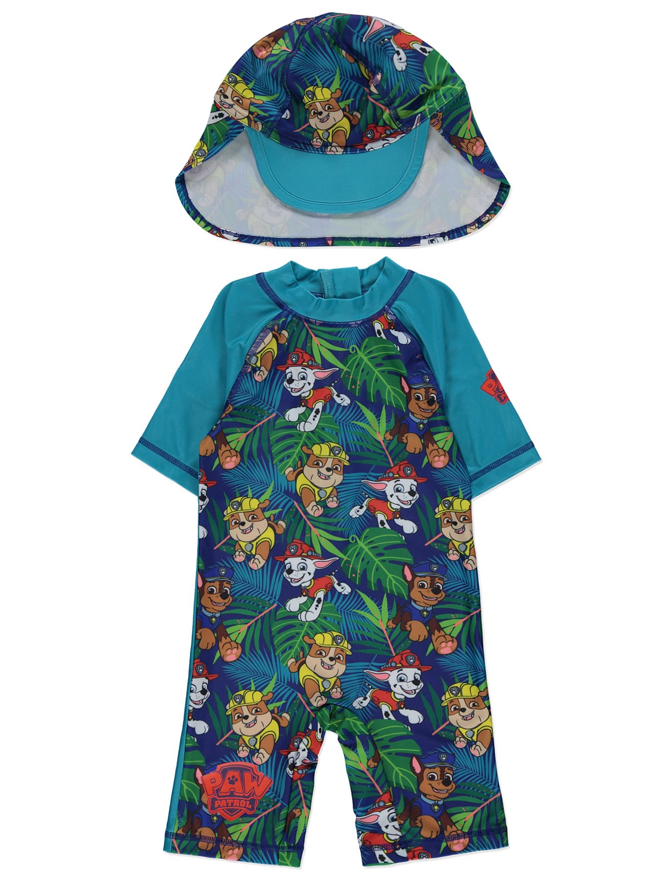 6cab3a9afa PAW Patrol Sun Protection UPF 40 Swimsuit and Hat Set