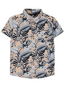 a0b00f7b Grey Tropical Hawaiian Short Sleeve Shirt