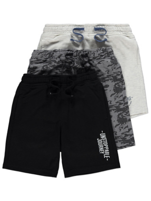 Printed Jersey Drawstring Shorts 3 Pack