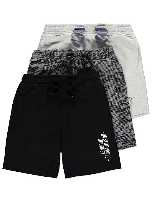 99bfd6078 Printed Jersey Drawstring Shorts 3 Pack | Kids | George