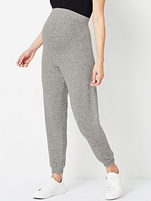 4bf8074569 Maternity Marl Grey Soft Knitted Joggers