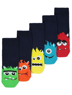 Assorted Monster Ankle Socks