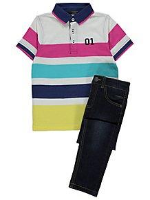 Sunny Garb Boys George Polo Blue Small Golf 5-6