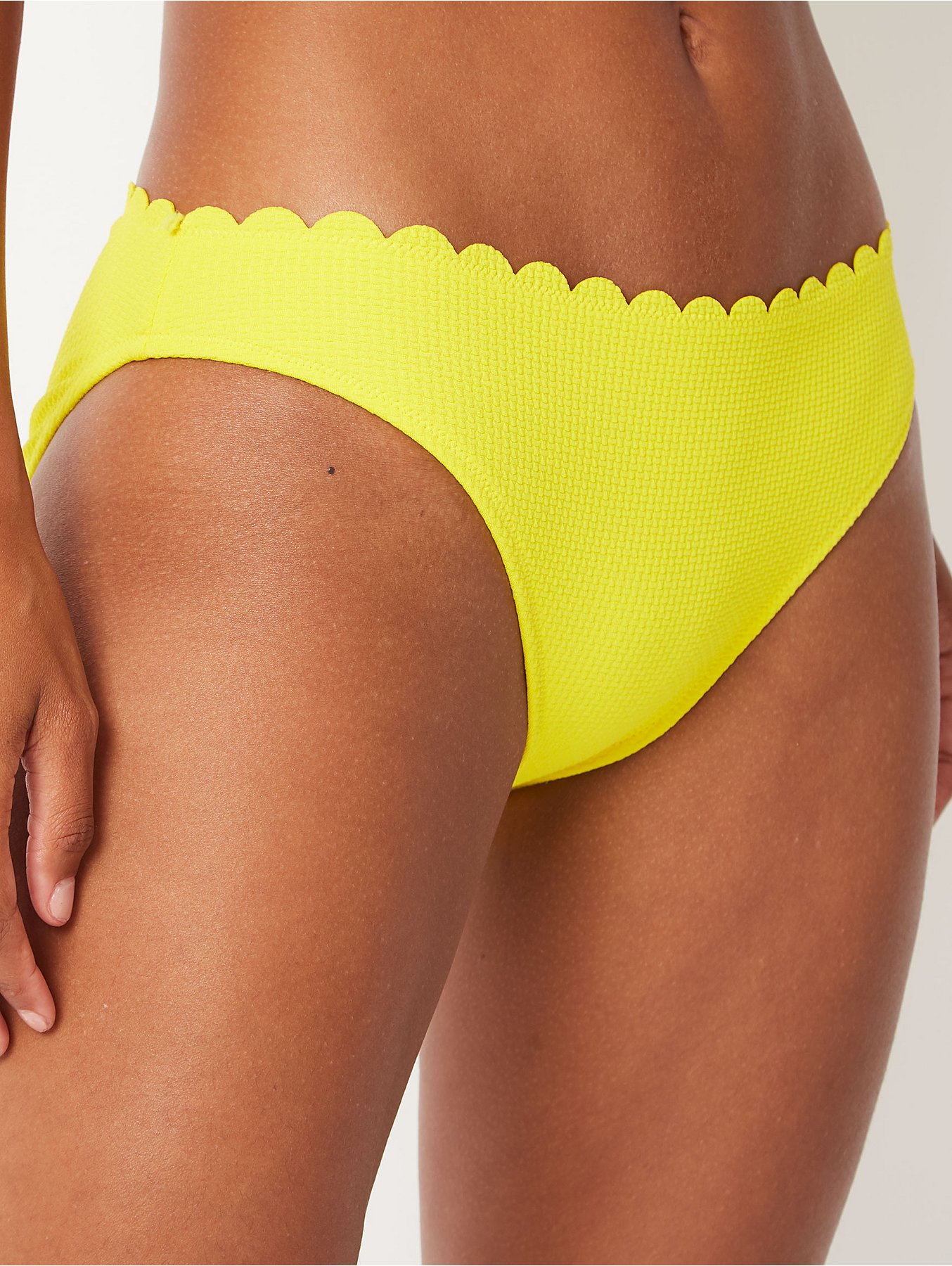 abc996360d021 Yellow Scallop Trim High Leg Bottoms | Women | George