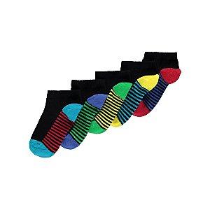 Assorted Trainer Liner Socks 5 Pack