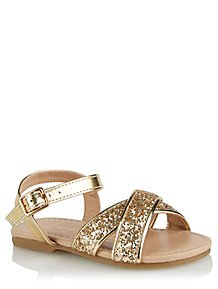 029a4cf694639a Gold Metallic Sandals