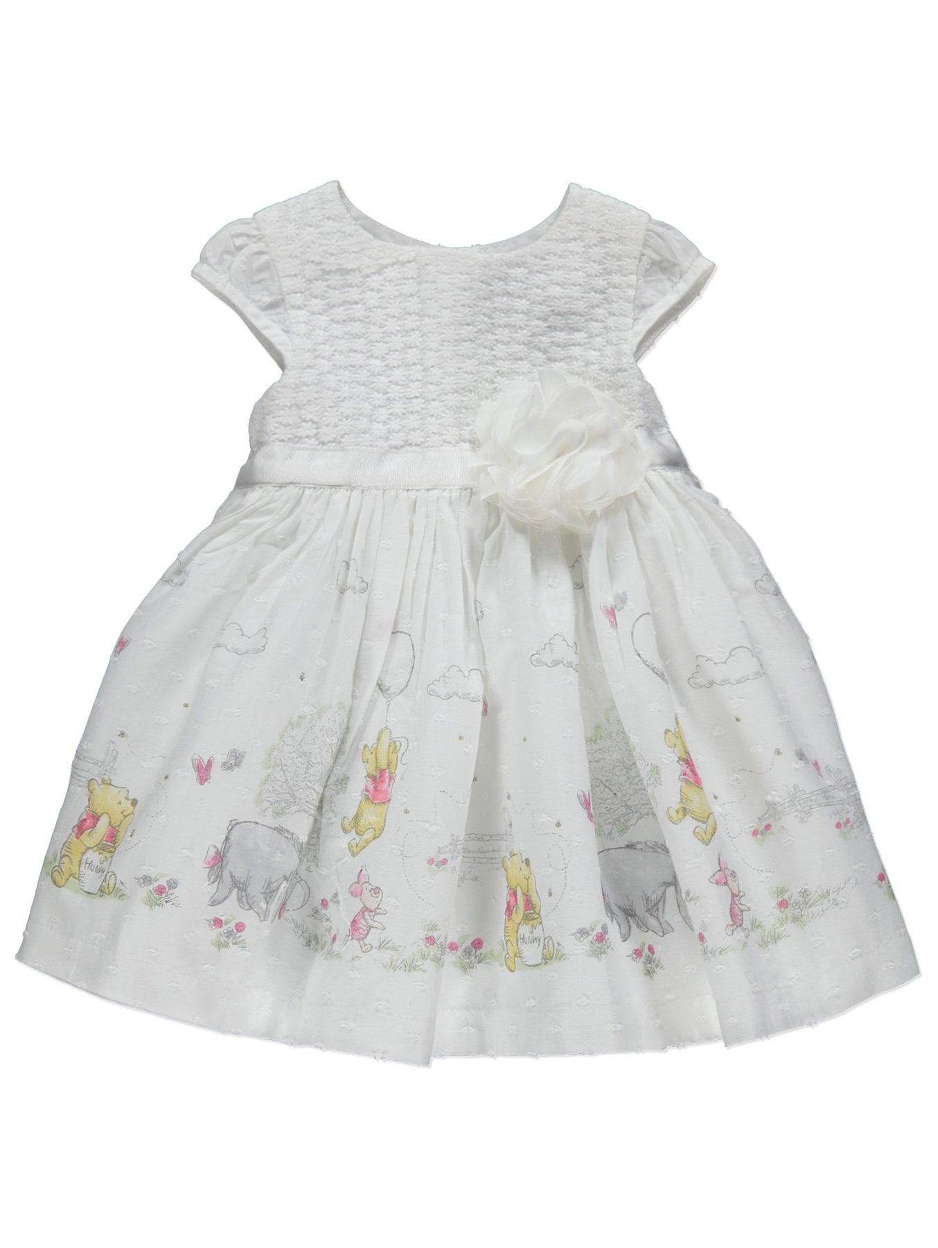 bcd5bf275 Disney Winnie the Pooh White Flower Detail Dress | Baby | George
