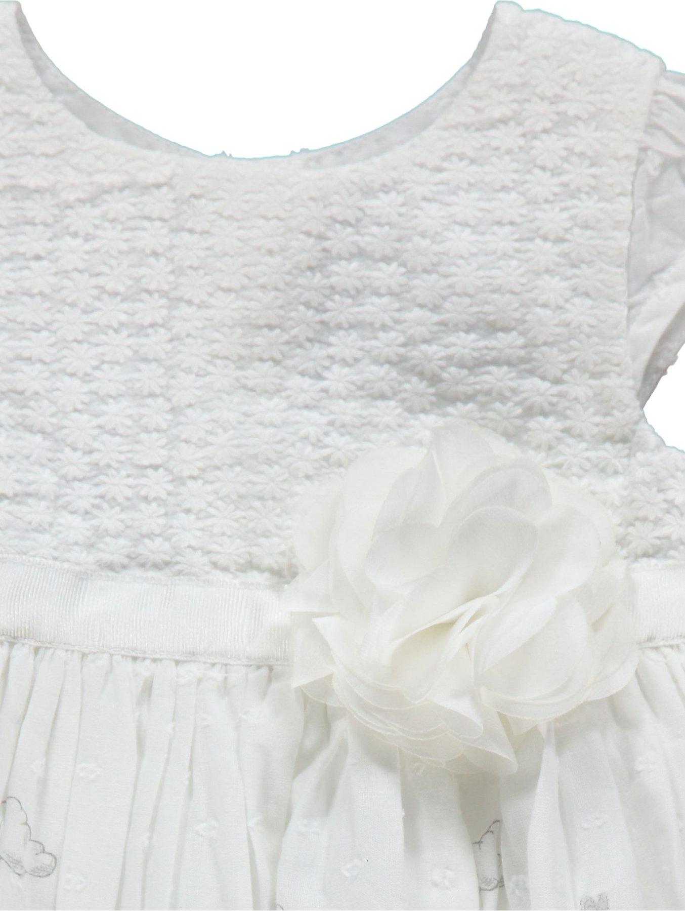 c92661e63481 Disney Winnie the Pooh White Flower Detail Dress   Baby   George