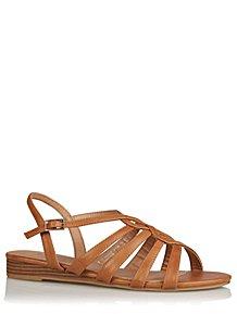 248846da59fe Tan Wide Fit Gladiator Sandals