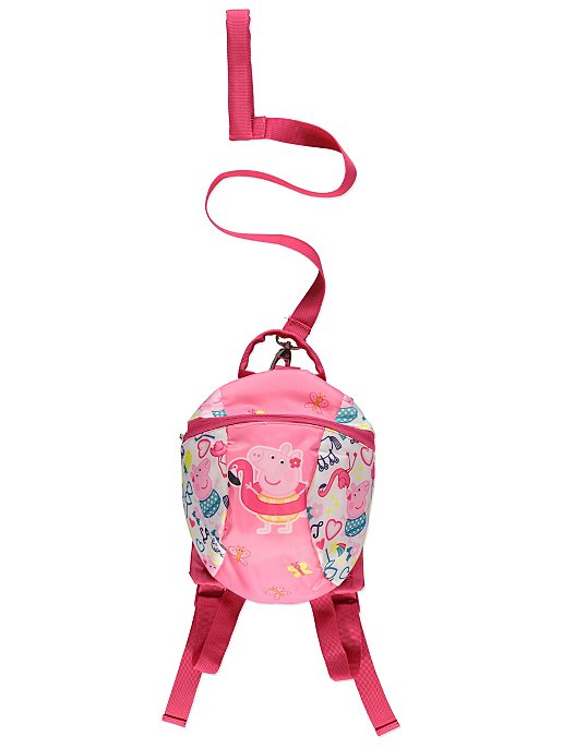 64b839e26b Peppa Pig Pink Flamingo Backpack With Reins