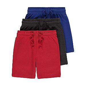 Jersey Drawstring Shorts 3 Pack