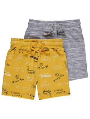 Slogan Shorts 2 Pack