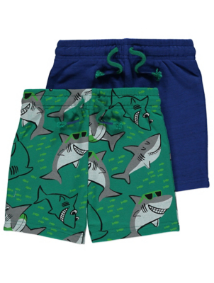 Assorted Shark Shorts 2 Pack