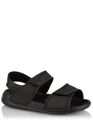Black 2 Strap Sandals