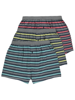 Striped Jersey Boxers 3 Pack